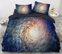 3D Spiral Galaxy ZHUA353 Bed Pillowcases Quilt Duvet Cover Set Queen King Zoe
