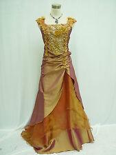 Cherlone Gold Hochzeit Ballkleid Brautkleid Abendkleid Brautjungfer Kleid 44