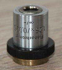 Zeiss Mikroskop Microscope Objektiv Planachromat 1,25x/0,025