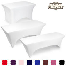Fitted Spandex Stretch Fabric Tablecloth Cover (Many Colors & Sizes)