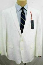 New 50R Tommy Hilfiger Modern Fit Stretch White Dual Vent Cotton Sport Coat JL0