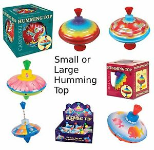 Traditional Humming Top Baby Child Toddler Toy Classic Spinning Carousel Rainbow