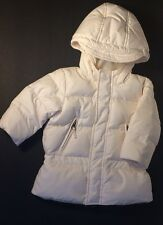 RALPH LAUREN Polo Down Jacket Coat Girls Baby Infant Puffer White Size: 9M