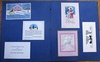 Salesman's Sample 1930 Book: 'Baseball Greetings' - Calendars & Greeting Cards
