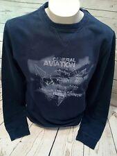 Marvelis  Pullover Pulli Sweatshirt Gr. XL 54 Blau Druck mit 100% Baumwolle