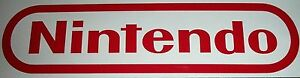 """Nintendo NES Sticker Decal Logo Super SNES 2""""x 8"""" RED"""