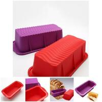 Silicone Rectangle Toast Bread Mold Baking Mould Cake Loaf Pan Bakeware DIY Tool