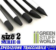 Pennelli di Gomma - Punta #2 - Nero FIRM - NUOVE PUNTE Silicone - Colour Shaper