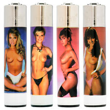 4 Clipper Lighters - Flint Large - Topless Girls Full Set Collection (CPS3)