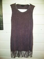a9d1b62794e Rock   Republic Large Purple Sleeveless Fringe Dress