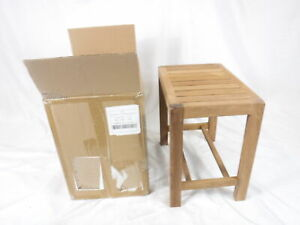 """Genuine Teak Wood Oversized Shower Bench without Shelf 16.5L""""x15.75H""""x11W"""""""