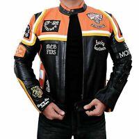 Cafe Racer Mickey Rourke Harley Davidson Marlboro Man Motorcycle Leather Jacket