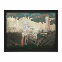 Ciurlionis Prelude The Knight Painting Large Framed Art Print
