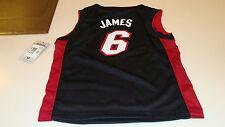 NBA Miami Heat S Age 4 Lebron James Black Adidas Basketball Jersey Child Kids