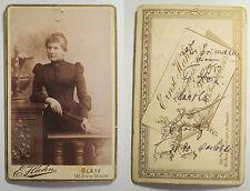 Glatz - 1890 - Frau Martha Ehri??? - Portrait / CDV