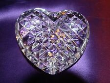 """Vintage """"Waterford"""" Faceted Crystal Heart Paperweight"""