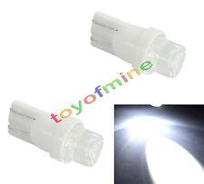 2x LED T10 W5W 501 interni auto lampada allo xeno bianco cuneo Lampadine DC 12V