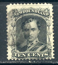 1865-1894 Newfoundland SC 27a Prince Albert Used, 10c Black on Yellowish Paper