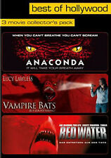 (3 DVDs) ANACONDA # VAMPIRE BATS # RED WATER - NEU*OVP
