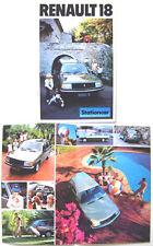 Renault 18 Estate TS TL 1979-80 Original Dutch Brochure