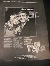 Jerry Vale adds two new sides 1969 Promo Poster Ad mint