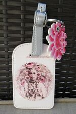 Women's Pink Travel Power Papaya Art Luggage Tag Belt Buckle Strap Native Ethnic