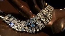 Stunning Art Deco Style Rhinestones Bracelet, Vintage Jewelry