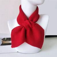 Womens Korean Winter Cross Knitted Scarf Unisex Crochet Neck Warmer Soft Scarves