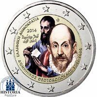 Griechenland 2 Euro Domínikos Theotokópoulos - El Greco 2014 Münze in Farbe