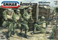EMHAR 3509 WWI US INFANTRY 12 Unpainted Plastic Figures 1/35 MIB FREE SHIP