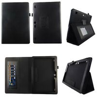 Black Fit for Lenovo Tab 2 10.1 10 Inch Tablet Case Cover ID Slot