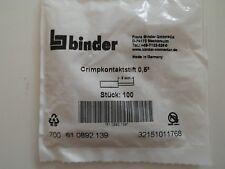 Binder Serie 700 61-0892-139 Crimpkontaktstift 0,5mm² *Neu* *5 Stück*
