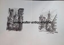 10 große Drucke von Stuttgart bezeichnet Velten mit Bleistift untertitelt