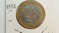 ROYAUME-UNI-1998 Elizabeth II 2 POUNDS TB