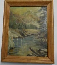 """Vintage Oil Painting Framed & Signed Blanche Fox 10.5"""" x 8.5"""""""