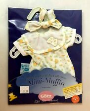 LOT #8: GOTZ - MINI-MUFFIN CLOTHES SUN DRESS YELLOW DOTS - NEW IN PACKAGE!
