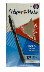 Paper Mate Profile Retractable Ballpoint Pens, Bold Point, Black Ink, 12/Pack
