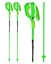 Komperdell Nationalteam Carbon Slalom Ski Poles 120m Reg Hand Strap Black/Green