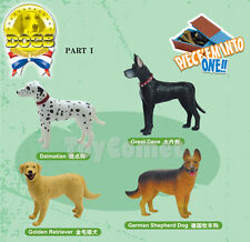 Set of 4 Dogs Animal Part I 4D 3D Puzzle Model Kit Educational Toy
