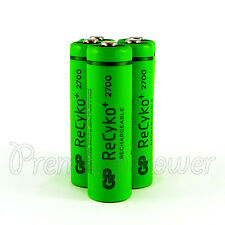 5 x GP ReCyko+ AA batteries 2700 Series rechargeable 2600mAh 1.2V NiMH HR6 LR6