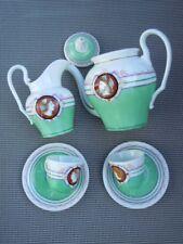Service thé porcelaine décor homme femme antique d'époque 18ème