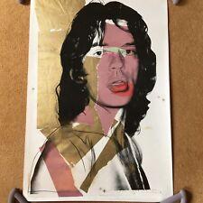 LARGE Andy WARHOL Mick Jagger 1975 33 x 22 Unframed Unused Print MUMOK Austria