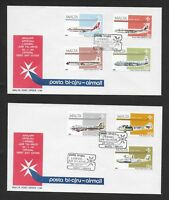 MALTA FIRST DAY COVER, 1984 AIR STAMP SET USED