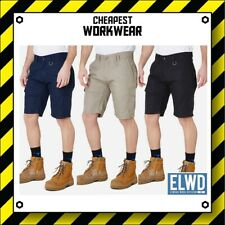 ELWD | Elwood Workwear | MENS UTILITY WORK SHORTS (Navy, Black, Khaki) EWD201
