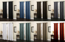 2Pc Heavy Thick Blackout Curtains Solid Window Grommet Treatment Drapes Lined Ad