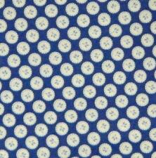 Patchwork Quilting Sewing Fabric Oriental Blue Circles 50x55cm FQ New Material