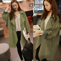 Women Oversize Long Jacket Boyfriend Tee Shirt Cardigan Coat Size 10 12 14 16 18