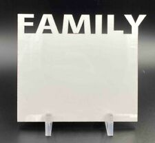 """Sublimation Blank White Hardboard (3 Pack) with Stands - """"FAMILY"""""""