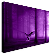 Angel In The Woods PURPLE Wall Picture Canvas Art