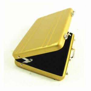 Mini Aluminum Safe Suitcase Briefcase Business Credit Bank Card Holder Box Case